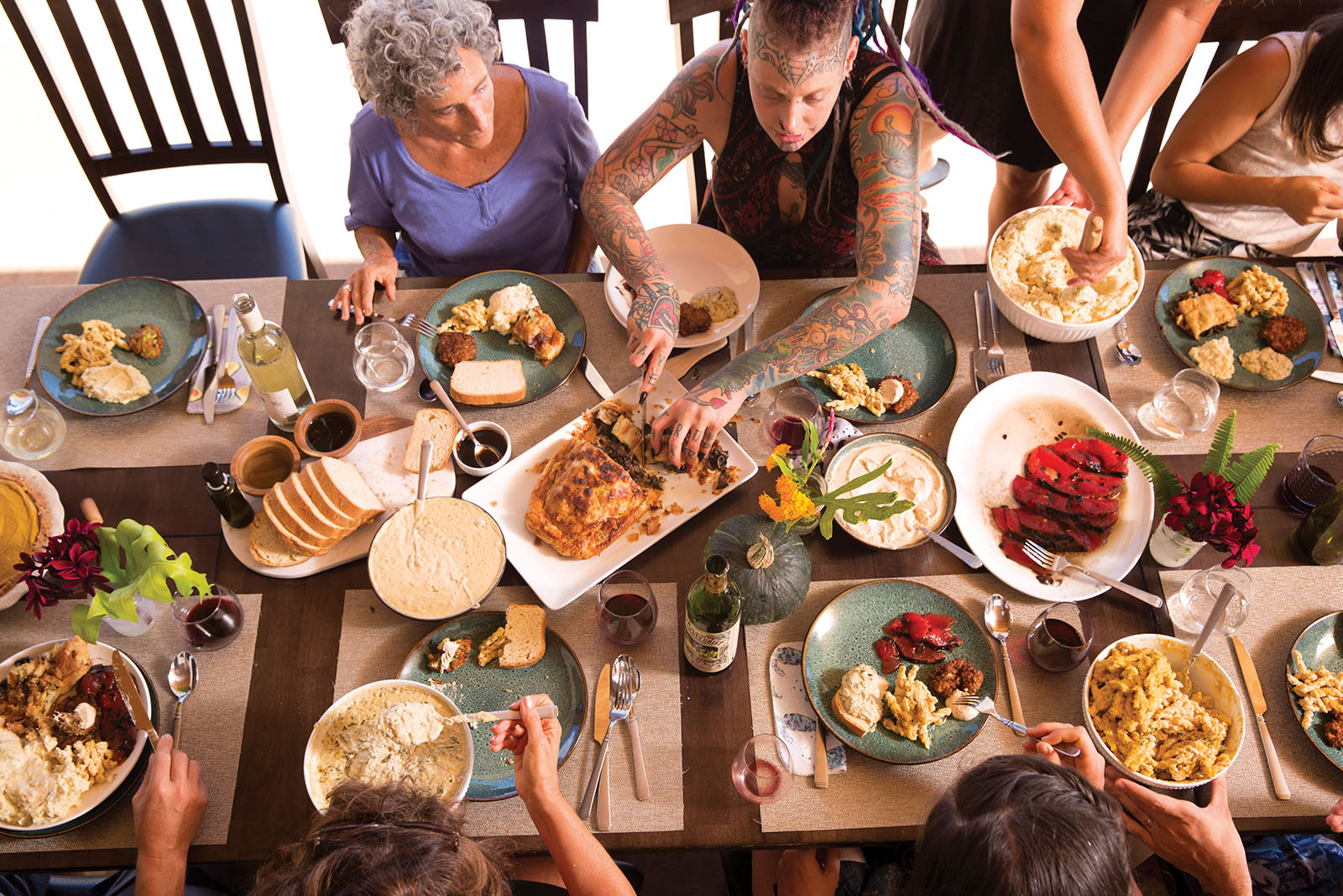 vegan holiday feast