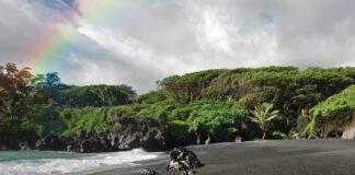 Wainapanapa Black Sand