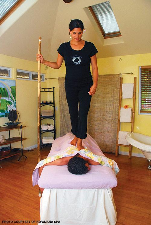 back walking massage treatment maui