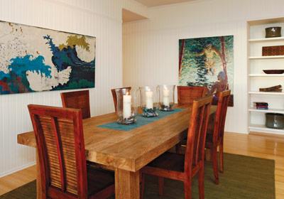 Maui home dining room