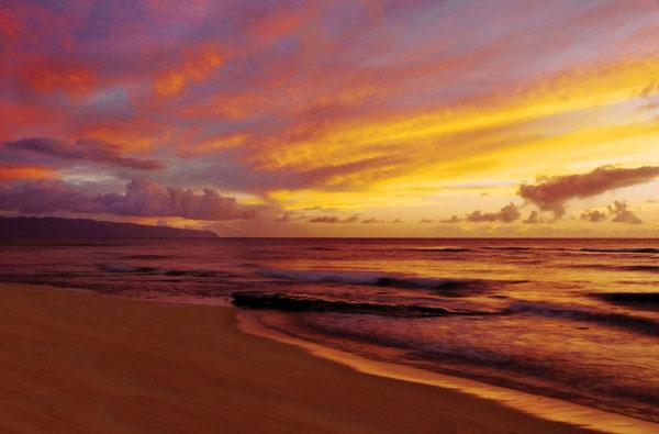 best beach sunsets Hawaii