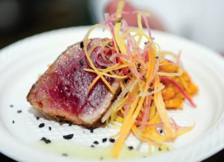 charred ahi filet