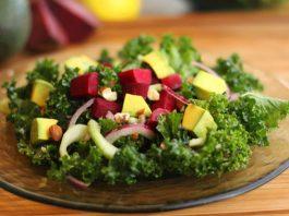 Salad with Lemon Maple Dressing