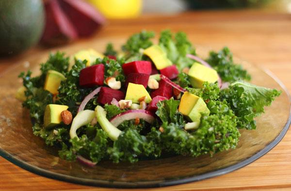 Choice Salad with Lemon Maple Dressing