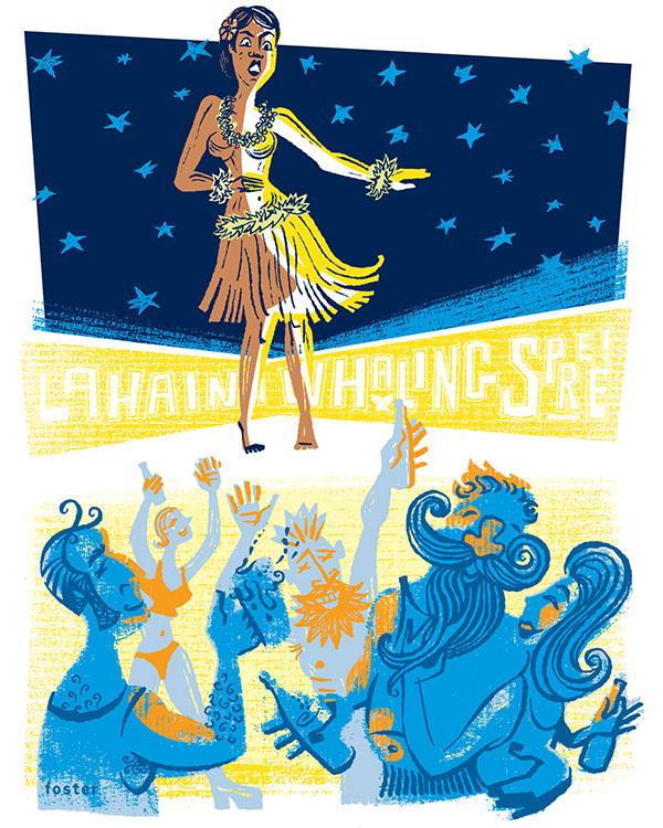 hula girl illustration by Matt Foster