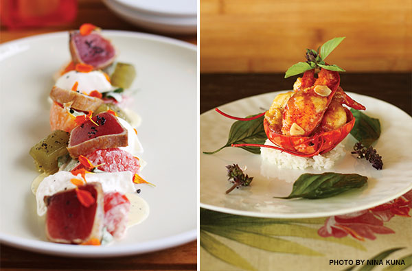Kaana Kitchen Ahi and Spago Lobster