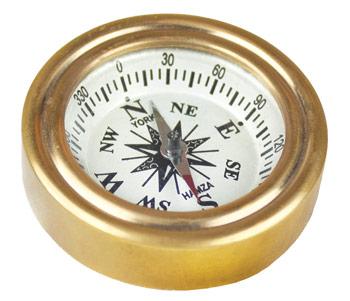 brass pocket compass
