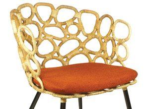 orange retro chair