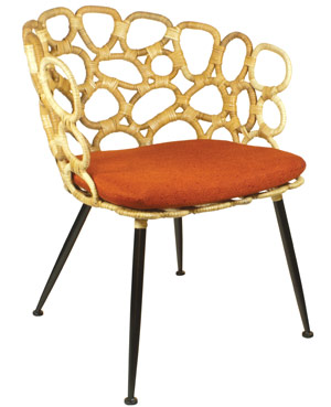 orange retro chair