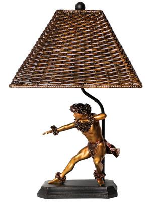 hula figurine lamp