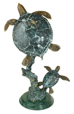 brass turtle sculpture