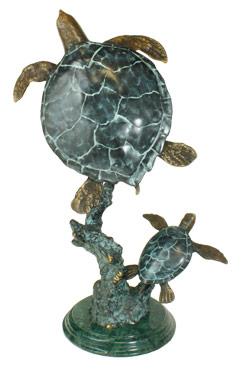 brass turtle sculpture