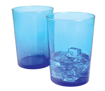 blue highball glass for sale