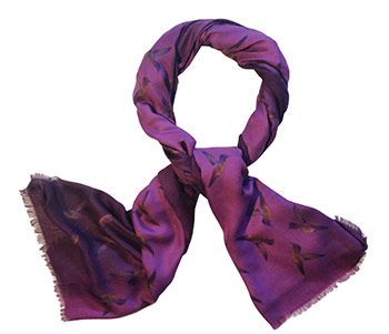Precious and Primitive purple scarf