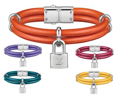 Louis Vuitton womens lock bracelets