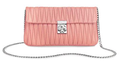 light pink designer folli follie purse