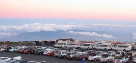 Haleakala parking lot