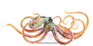 handblown glass octopus