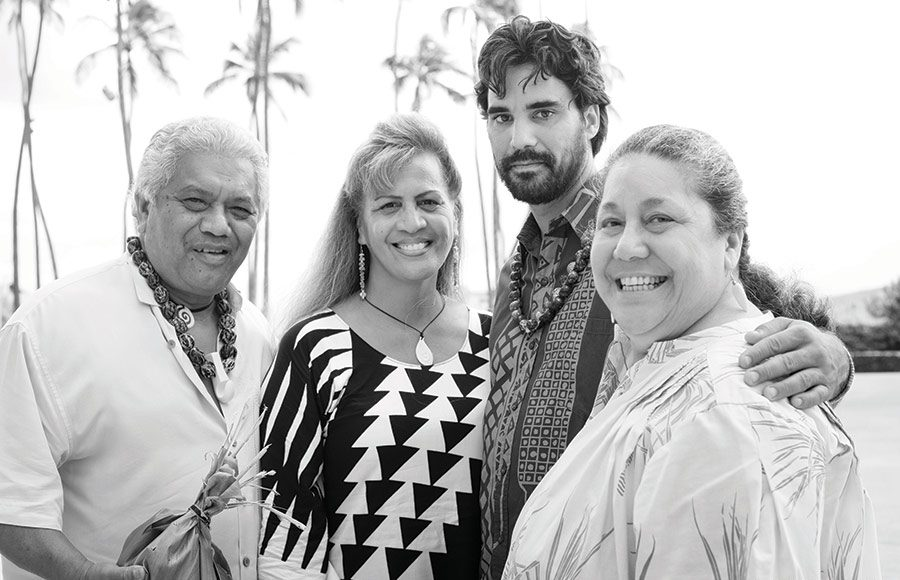 Hawaiian cultural leaders in Maui