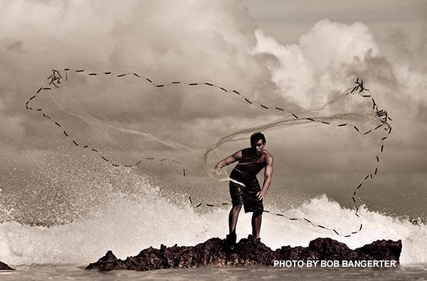 hawaiian fishing nets throw