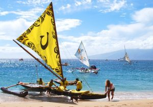 Hawaiian sailing canoes