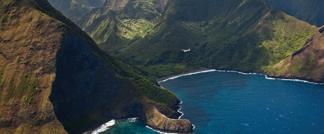 helicopter view maui
