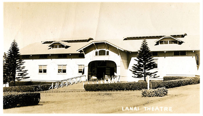 Lanai theater historical photo