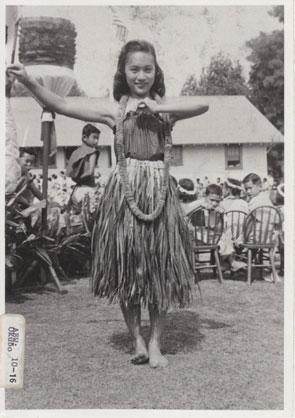 Hawaii hula dancer