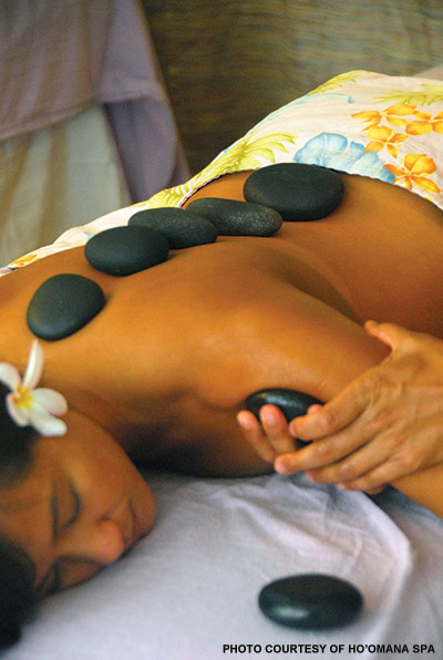 hot rock spa massage maui