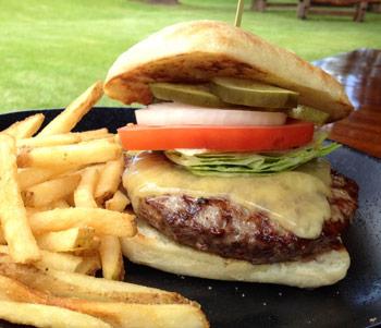 Maui cheeseburger