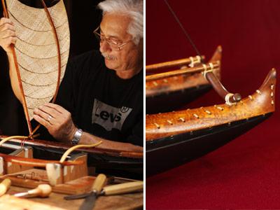Hawaiian canoe carver