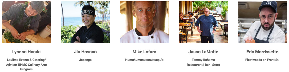 Kapalua wine and food festival chefs