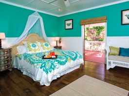 plantation style bedroom