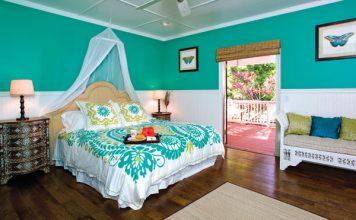 plantation style bedroom