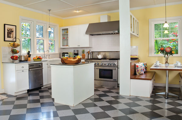 plantation style retro kitchen