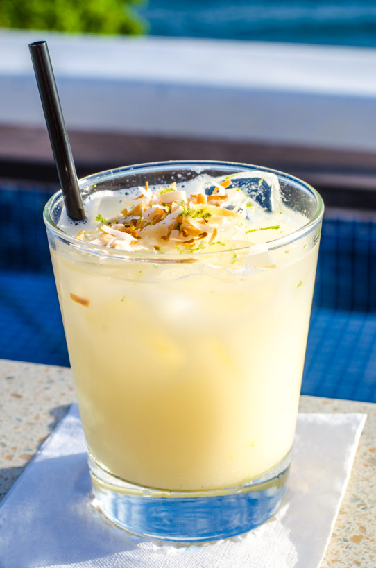 fleetwood's lime coconut cocktail