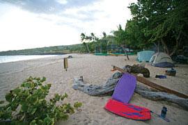 Hulopo'e beach camping Lanai
