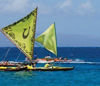 Maui canoe racing