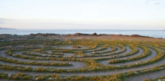 Kapalua labyrinth by the sea