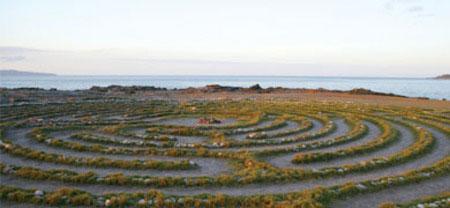 Kapalua labyrinth by the sea