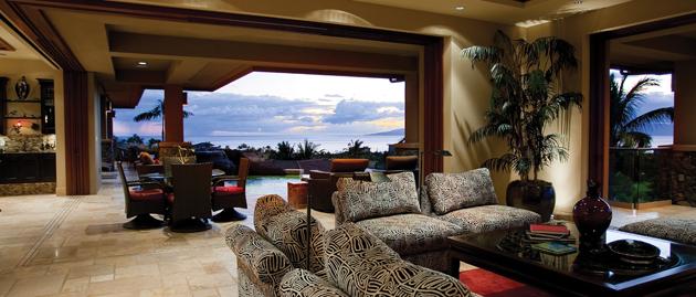 maui luxury home view