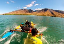 outrigger surfing
