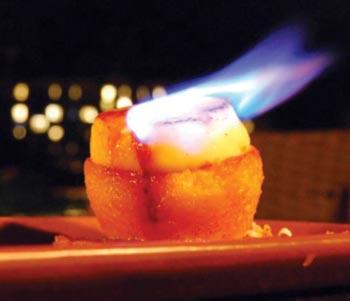 flaming pina colada