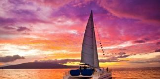 sunset dinner sail in Maui