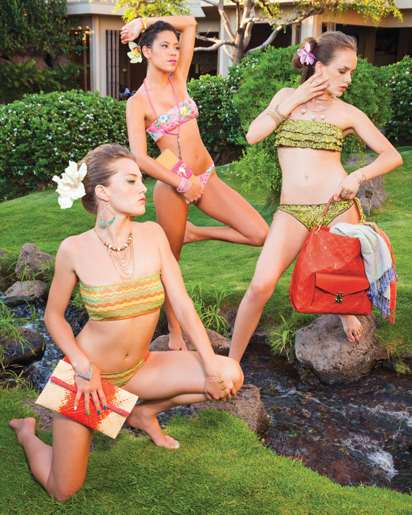 maui swimwear with bandeau tops