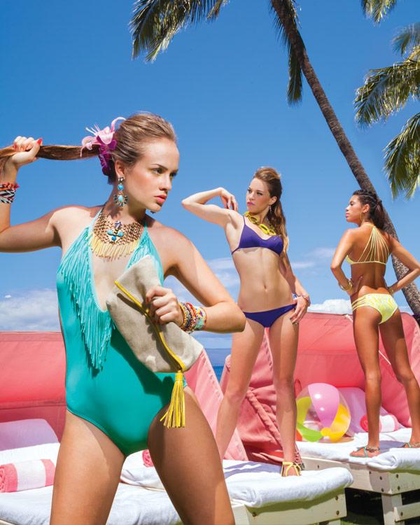 maui swimsuits with fringe