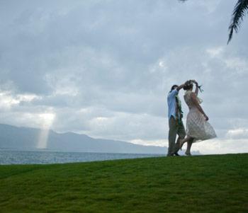 maui wedding twirl