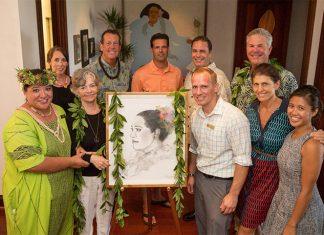 Montage Kapalua Bay Team with Artist