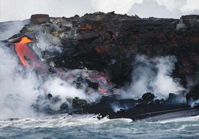 Pele lava volcano