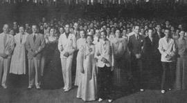 The class of 1939 gathers for the Grand March at their Junior Prom.